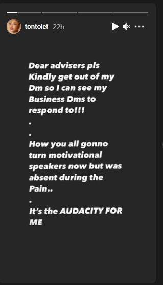 Tonto Dikeh relationship advisors