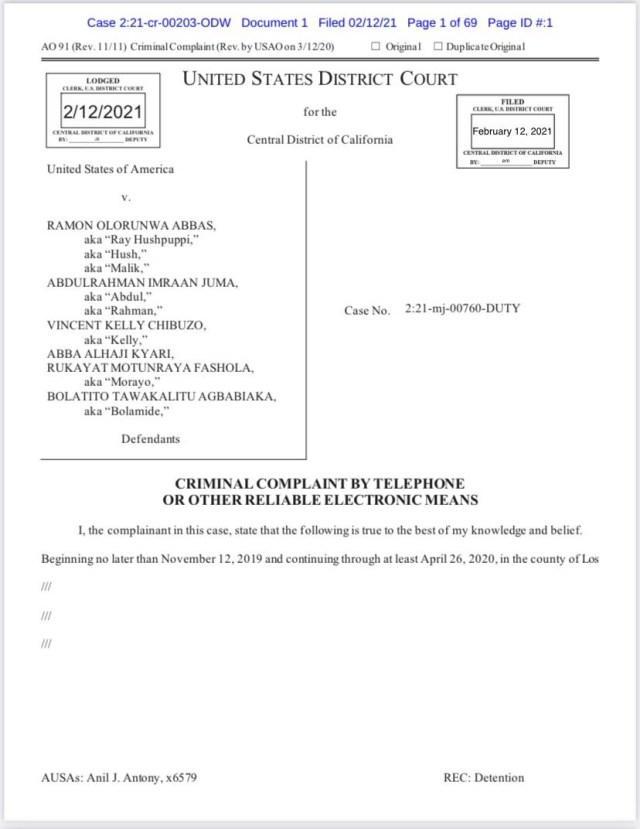 FBI releases full chat between Abba Kyari & Hushpuppi