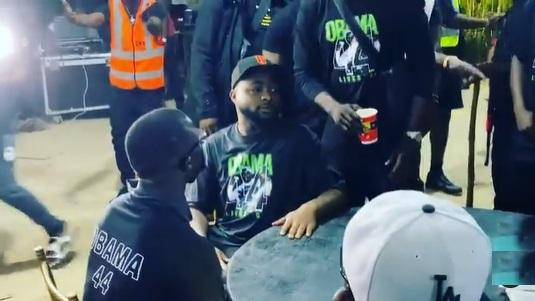 Davido, Zlatan Ibile and others attend candlelight service of Obama DMW (Video)