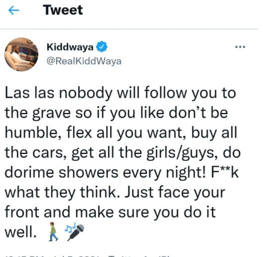 kiddwaya grave humble