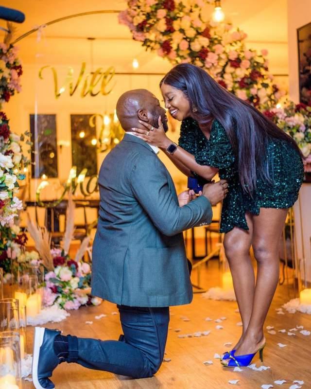 Touching moment actress Ini Dima-Okojie got engaged (Video)