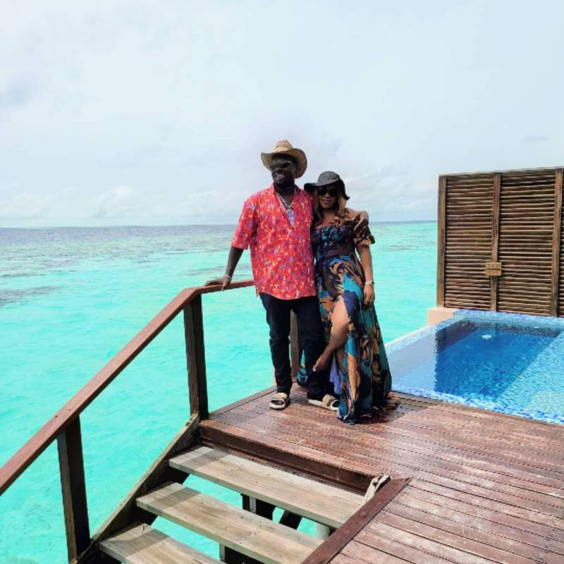 Obi Cubana and wife jets to Maldives for vacation after mother's burial (Video)