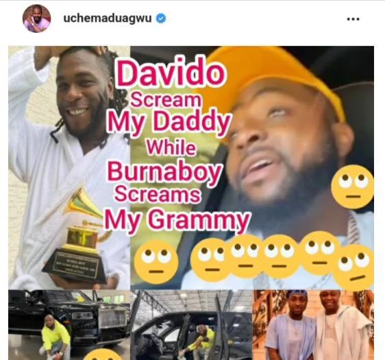 Uche Maduagwu Davido Grammy