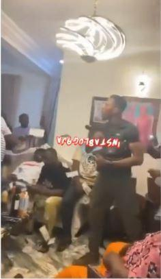 Moment guests at Obi Cubana's mother's burial stoned each other with cash