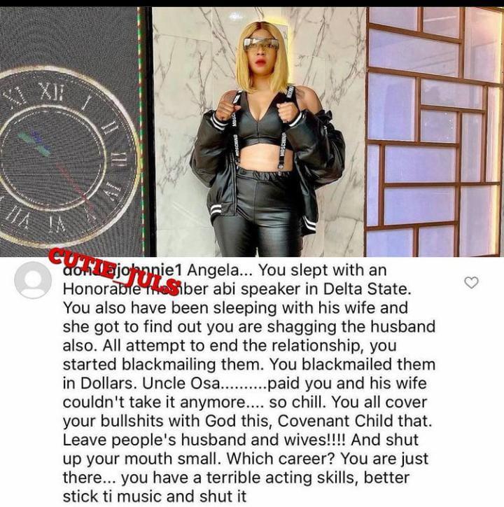 Angela Okorie husband affair