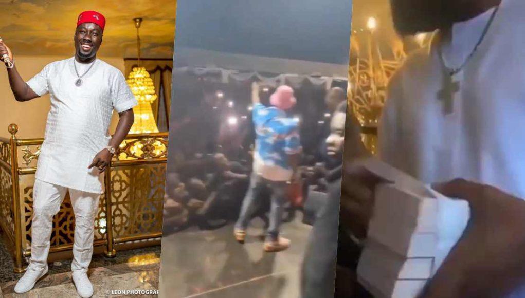 Davido, D'banj and others storm Obi Cubana's mum's burial (Video)