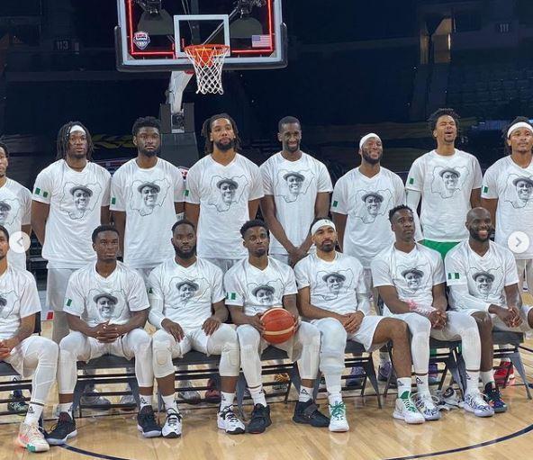 Sound Sultan Nigerian BasketBall team Warm-up shirt face