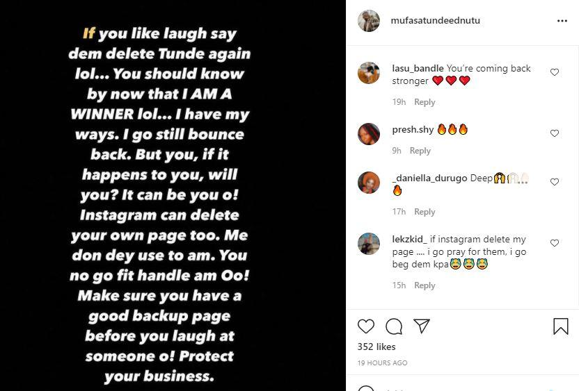 """""""Mock me all you want, I will bounce back"""" - Tunde Ednut reacts following Instagram suspension"""