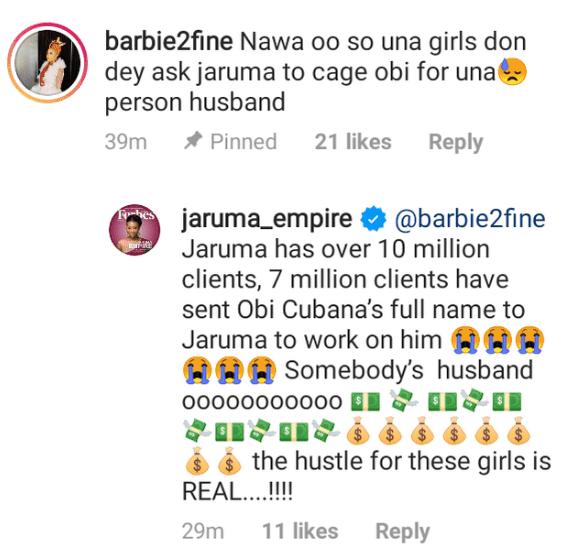 Kayanmata dealer Jaruma laments after 7 million ladies sent Obi Cubana's name as target