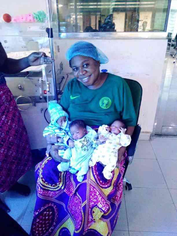 """""""God has done it for me"""" — Lady welcomes set of triplets after years of name calling"""