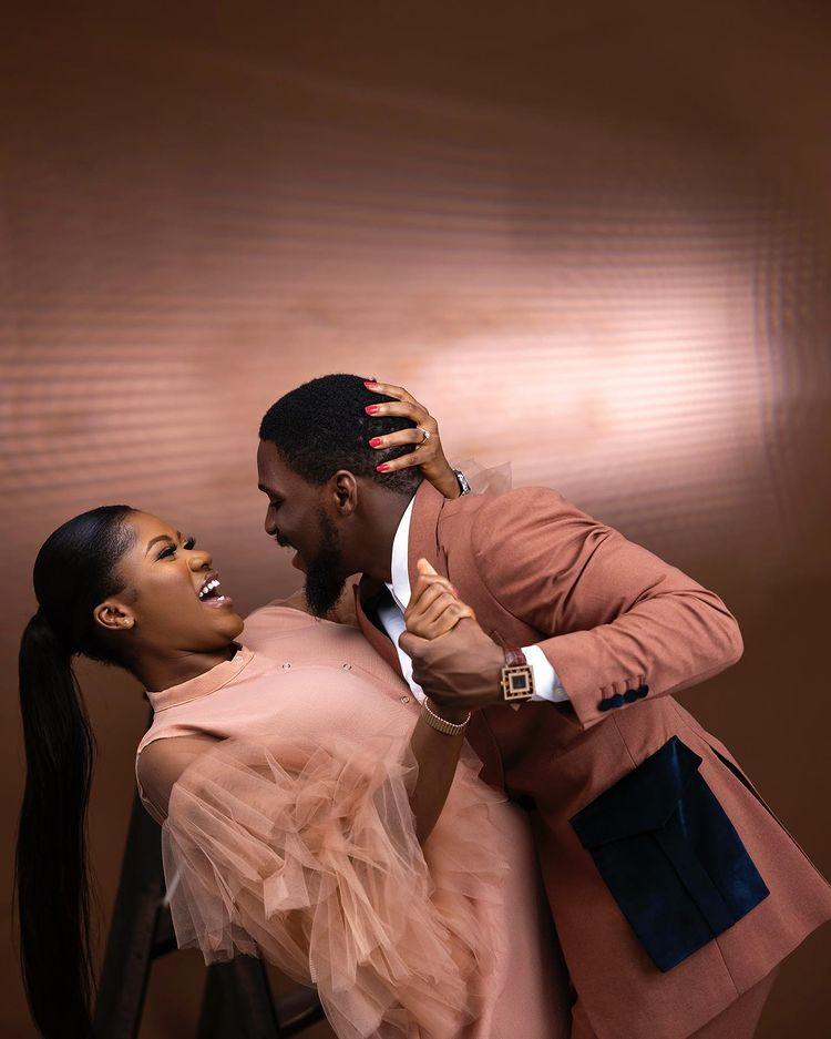 Tobi Bakre gushes over his bride-to-be, shares more pre-wedding photoshoot with bride-to-be