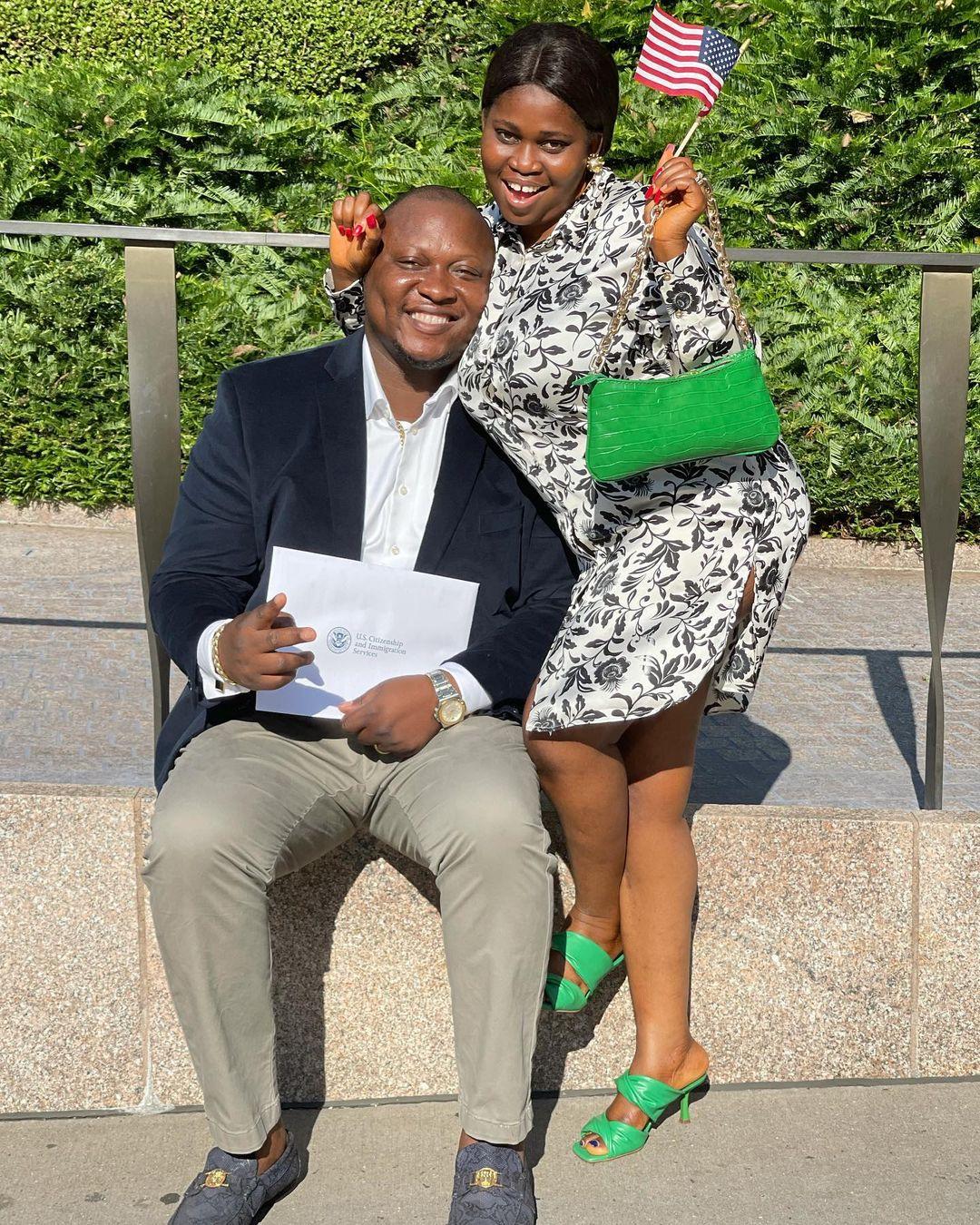 Tawa Ajisefini with husband