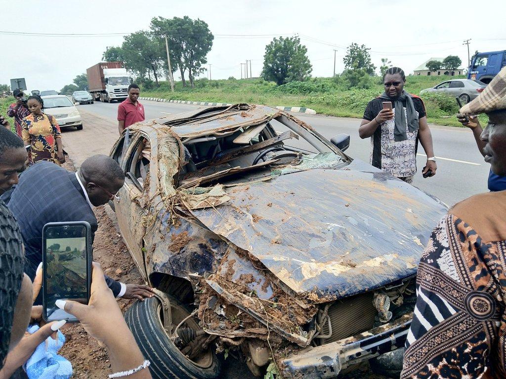 Man rejoices after surviving a ghastly car accident