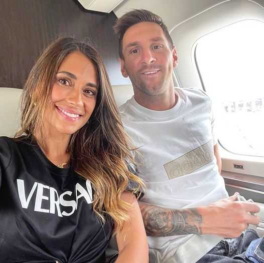 Messi and Antonella