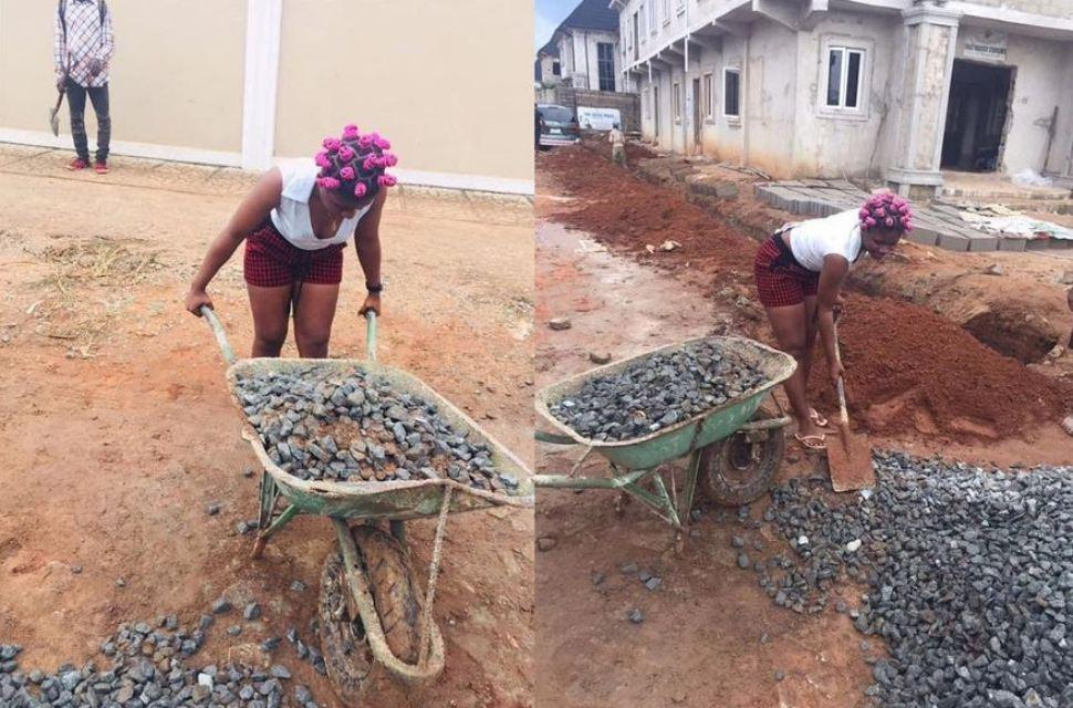 Male besties takes lady to work as laborer after asking him for 'urgent 2k'