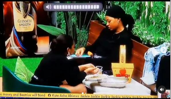 #BBNaija: Biggie orders housemates to separate grains of rice from grains of beans as punishment for disobeying him (Video)