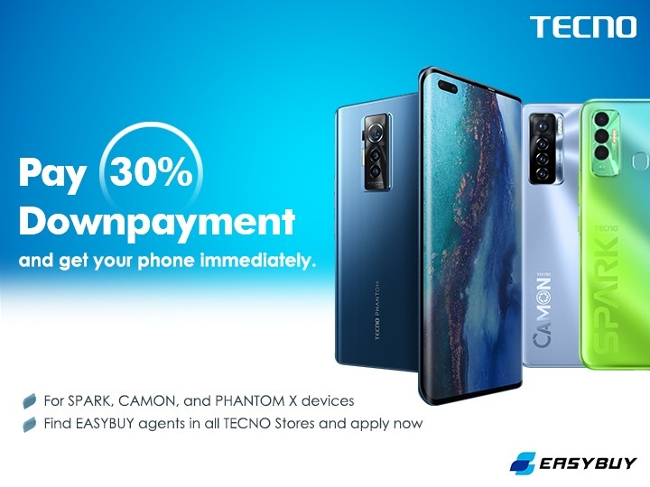 TECNO Partners EasyBuy to Offer Instalment Plan with just 30% Initial Payment