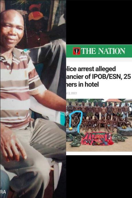 Lady laments after her father was wrongly paraded by the police as an ESN member Facebook