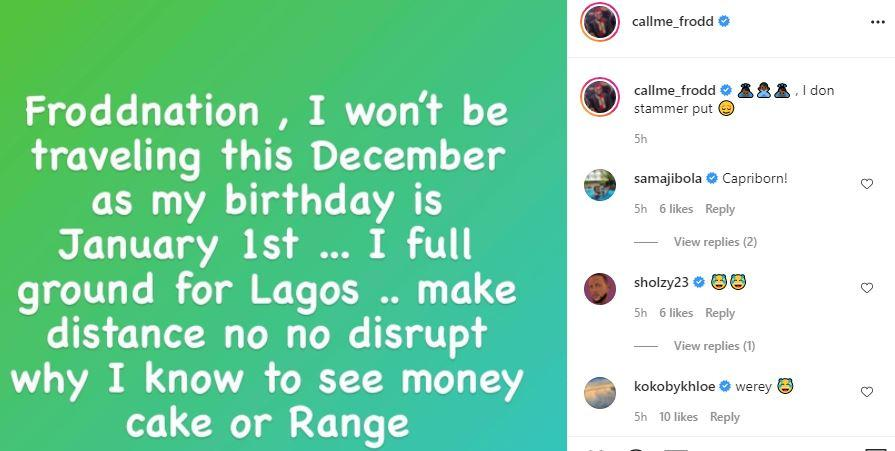 Reality stars, Khloe and Frodd call out fans for not buying them Benz and landed properties