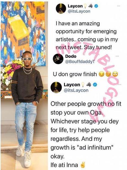 Laycon troll mocked his level of progress growth