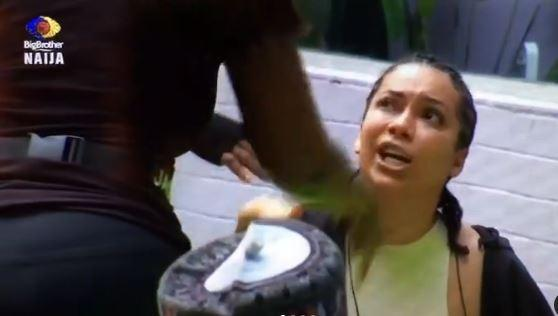 #BBNaija: Maria and Jackie B fight dirty over yesterday's disagreement