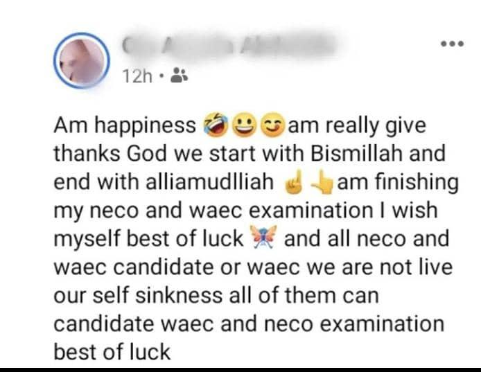 Waec exams congratulatory