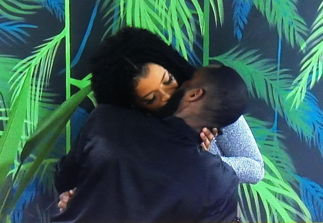 #BBNaija: Liquorose and Emmanuel share romantic evening, locks lips (Video)