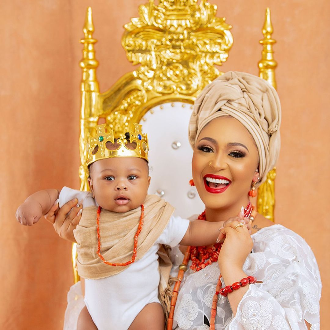 Churchill reveals son's face, rolls out adorable photos with wife, Rosy Meurer