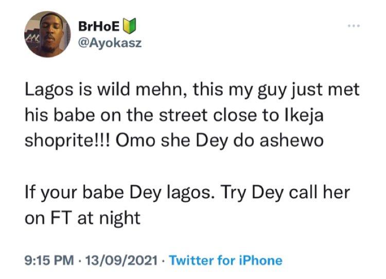 Lagos Girlfriend Prostitution Twitter