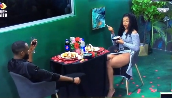 """#BBNaija: """"I can do without making love to you for four months"""" - Liquorose to Emmanuel (Video)"""
