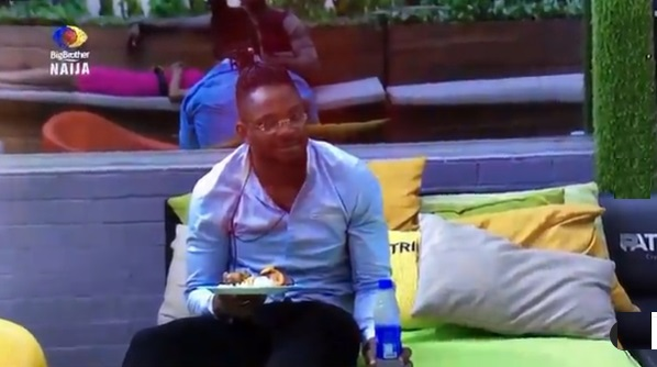 """#BBNaija: """"Even if it's poisoned, I'd die for love"""" - Cross, after Angel handed him food amid fight (Video)"""