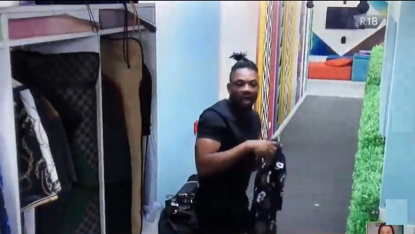 #BBNaija: Cross' epic reaction on seeing Nini after whole day disappearance (Video)
