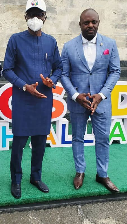 Jim Iyke and Sanwo Olu