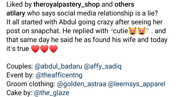 Abdulrahman Badaru weds fiancée