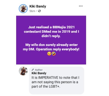 Kiki Brandy housemates LGBT