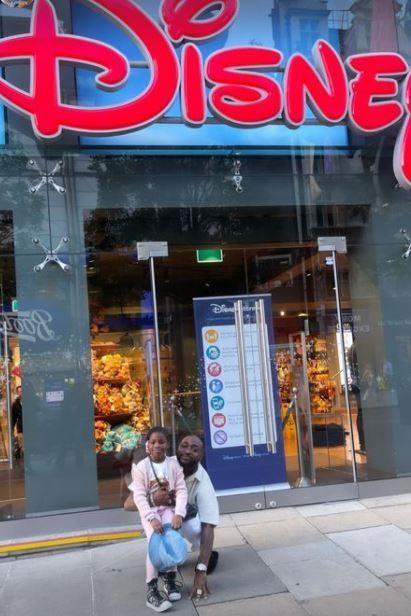 Davido splashes millions on daughter, Imade for shopping in Disneyland (Video)