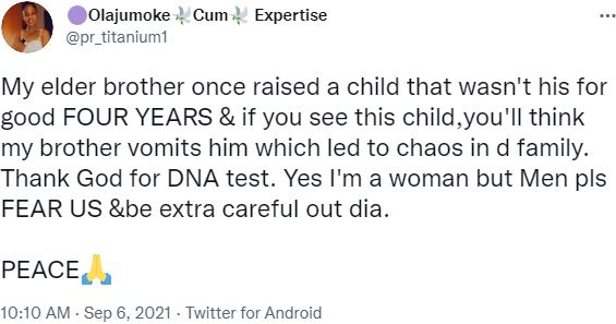 Elder brother DNA Child