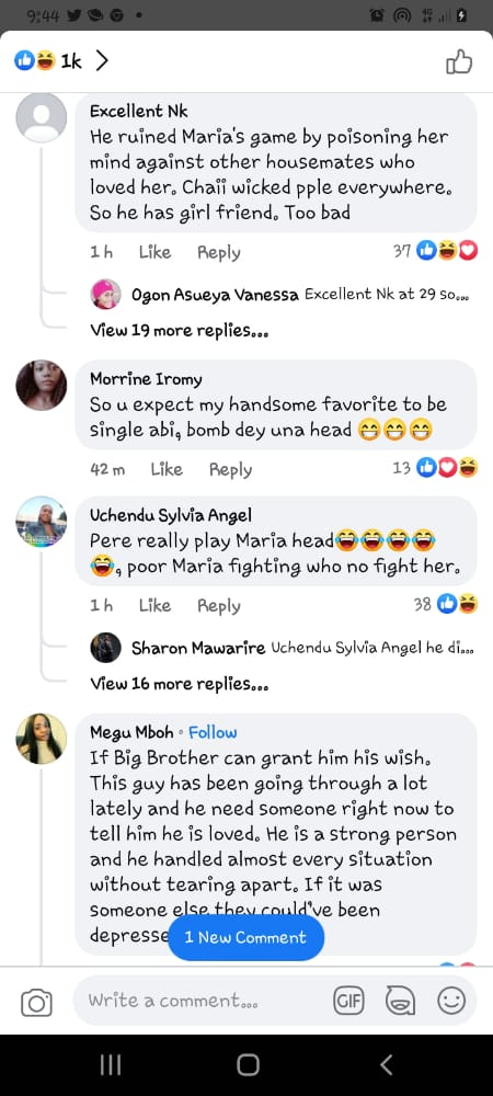 Maria's game pere girlfriend
