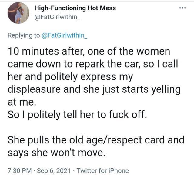 Elderly woman flog lady