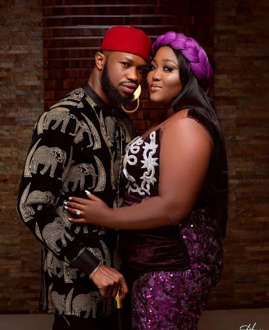 Actor Stan Nze and Blessing Obasi