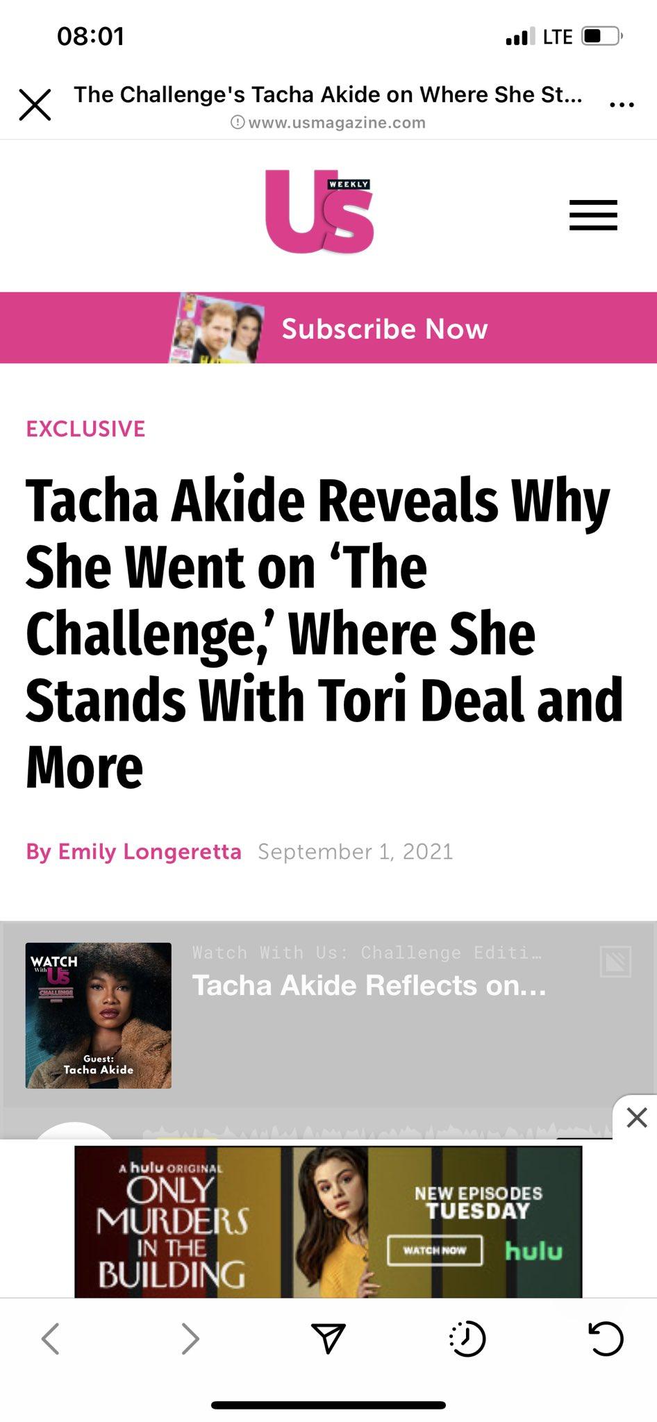 Tacha US Weekly Magazine