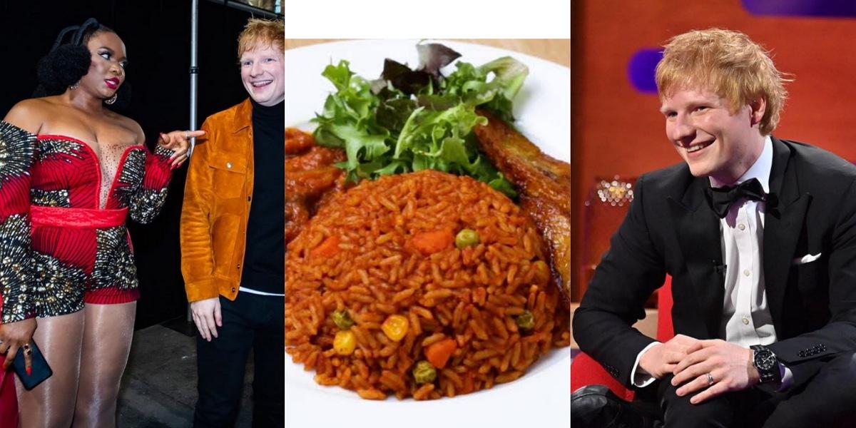 """I prefer Ghanaian Jollof to Nigeria's"" — British singer, Ed Sheeran reveals (Video)"