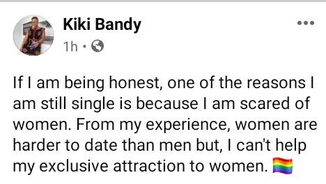 """Women are harder to date than men"" - Cameroonian lesbian, Kiki Bandy"