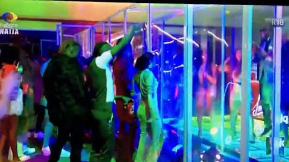 #BBNaija: Biggie hosts all 24 'Shine Ya Eye' housemates to last Saturday Night Party (Video)