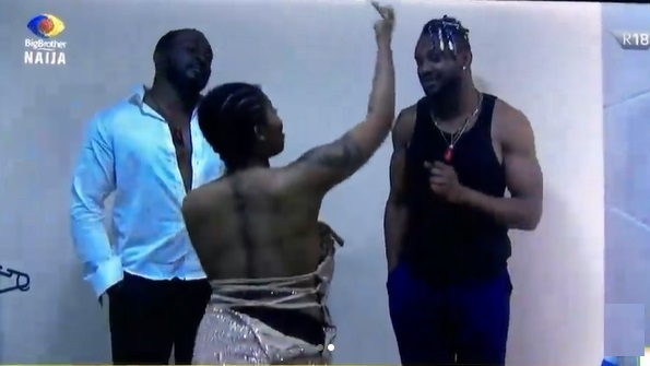 """#BBNaija: """"The audacity to call me fake"""" - Angel and Cross engage in heated argument (Video)"""