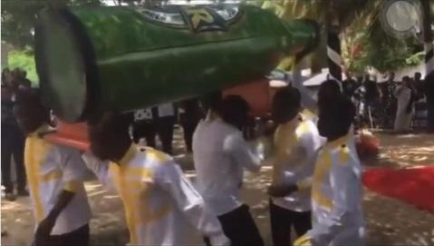 Man buried in 'beer-bottle-shaped casket' over alleged love for beer (Video)