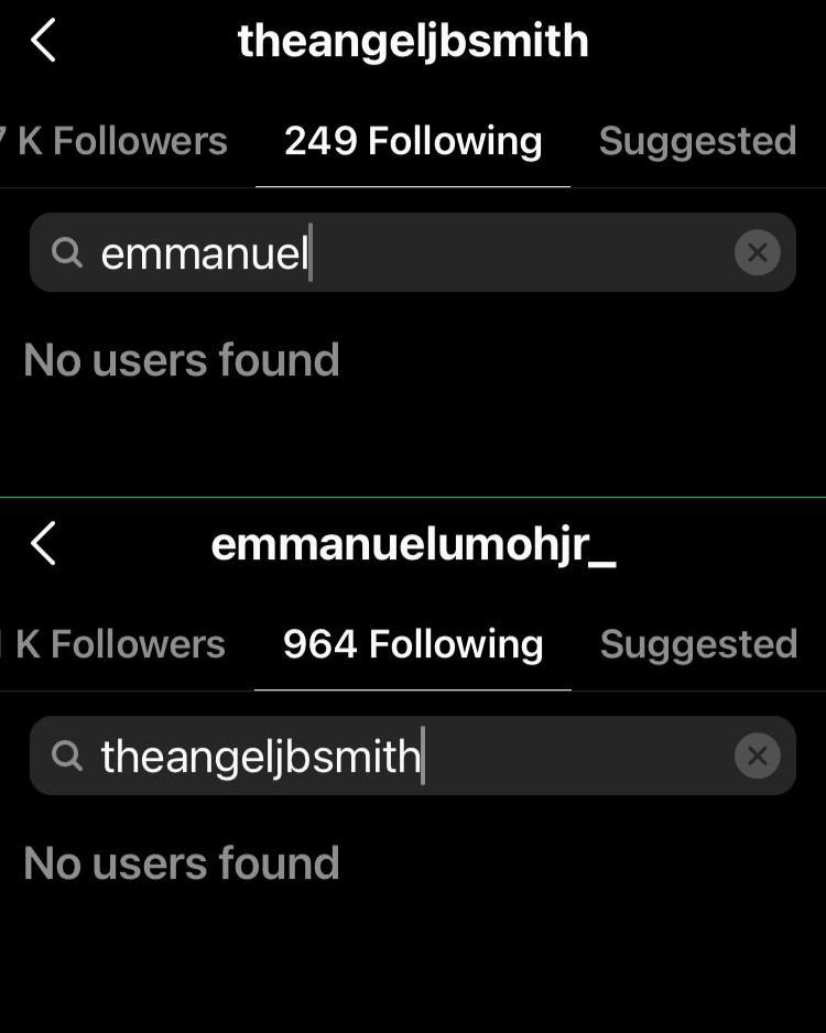#BBNaija: Emmanuel and Angel unfollow one another on Instagram