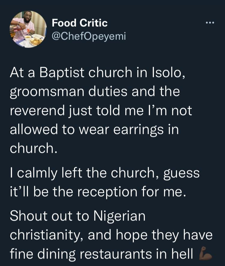 Twitter Church Groomsman Earrings