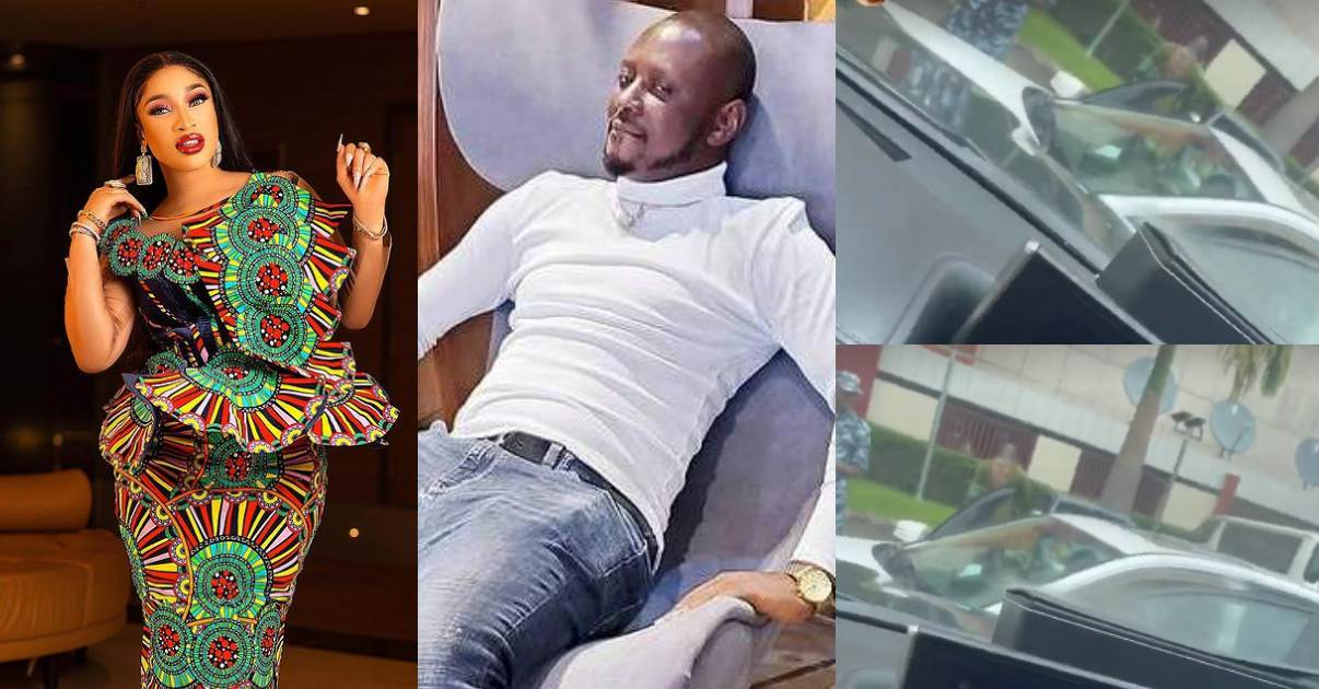 """""""Strong men came to push the riff-raff away for the king to pass"""" – Tonto Dikeh brags as she shares video Of Kpokpogri getting arrested"""