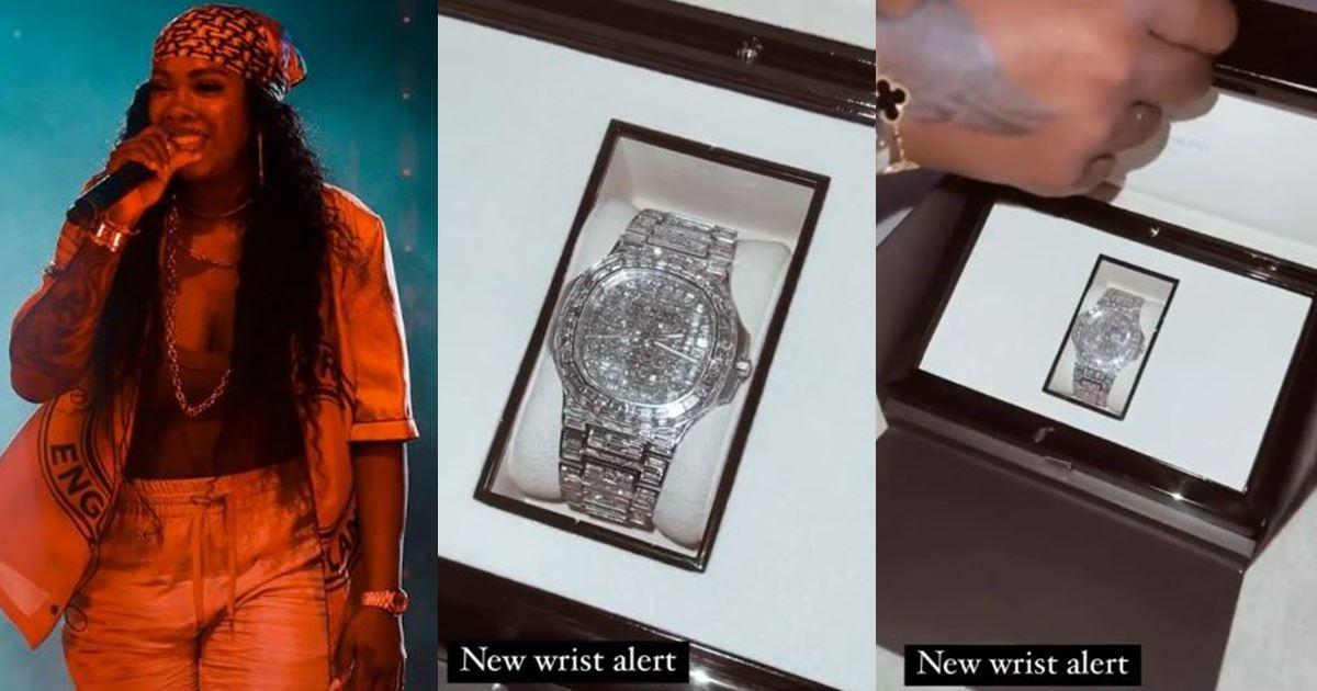 Singer, Tiwa Savage allegedly splashes over N70M on Patek wristwatch amid tape saga